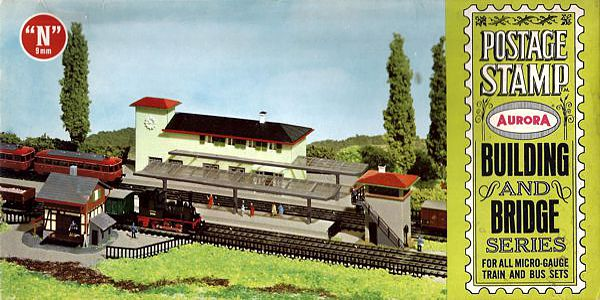 N Scale - Aurora Postage Stamp - 4110-250 - Station  - Railway Station