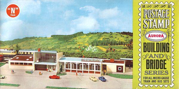 N Scale - Aurora Postage Stamp - 4111-250 - Station, Restaurant - Railway Station