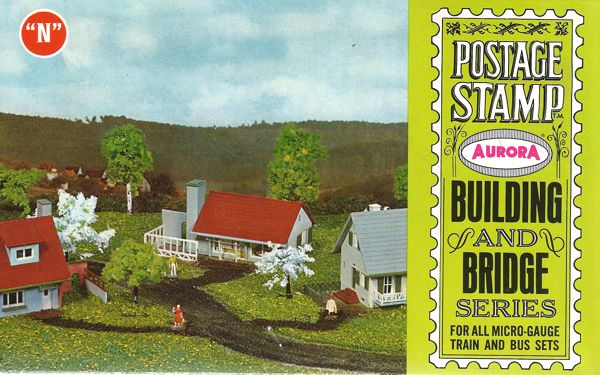 N Scale - Aurora Postage Stamp - 4121-150 - House - Residential Structures