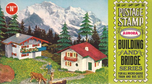 N Scale - Aurora Postage Stamp - 4146-125 - House - Residential Structures