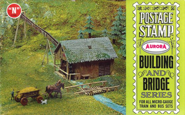 N Scale - Aurora Postage Stamp - 4153-250 - Watermill - Industrial Structures