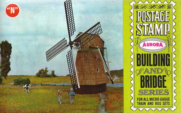 N Scale - Aurora Postage Stamp - 4152-250 - Windmill - Industrial Structures