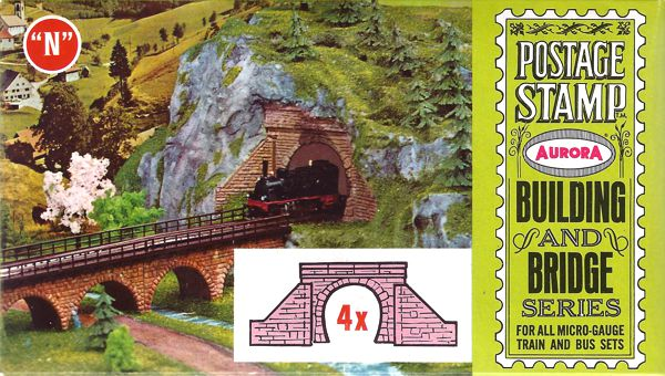 N Scale - Aurora Postage Stamp - 4178-080 - Tunnel Portals - Bridges and Piers