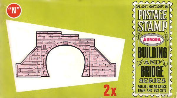 N Scale - Aurora Postage Stamp - 4179-050 - Tunnel Portals - Bridges and Piers