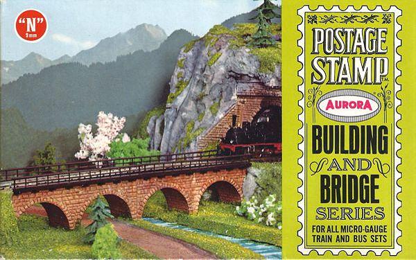 N Scale - Aurora Postage Stamp - 4185-100 - Bridge Piers , Viaduct - Bridges and Piers