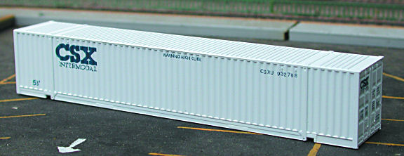 N Scale - Deluxe Innovations - 15030 - Container, 53 Foot, Corrugated - Burlington Northern Santa Fe - 2 numbers