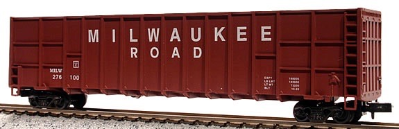 N Scale - Deluxe Innovations - 10060-6 - Gondola, Woodchip - Milwaukee Road - 6 numbers