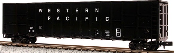 N Scale - Deluxe Innovations - 10070 - Gondola, Woodchip - Western Pacific - 5110