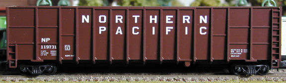 N Scale - Deluxe Innovations - 10510-6 - Gondola, Woodchip - Northern Pacific - 6 numbers