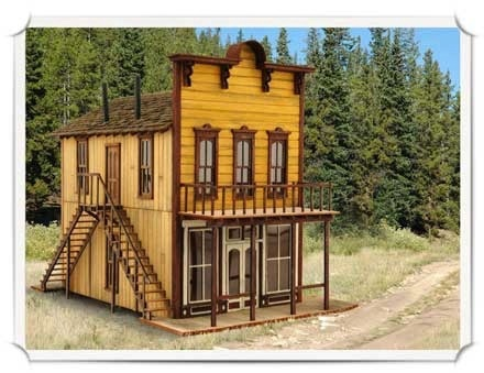 N Scale - Wild West Scale Model Builders - 114 - Commercial Structures