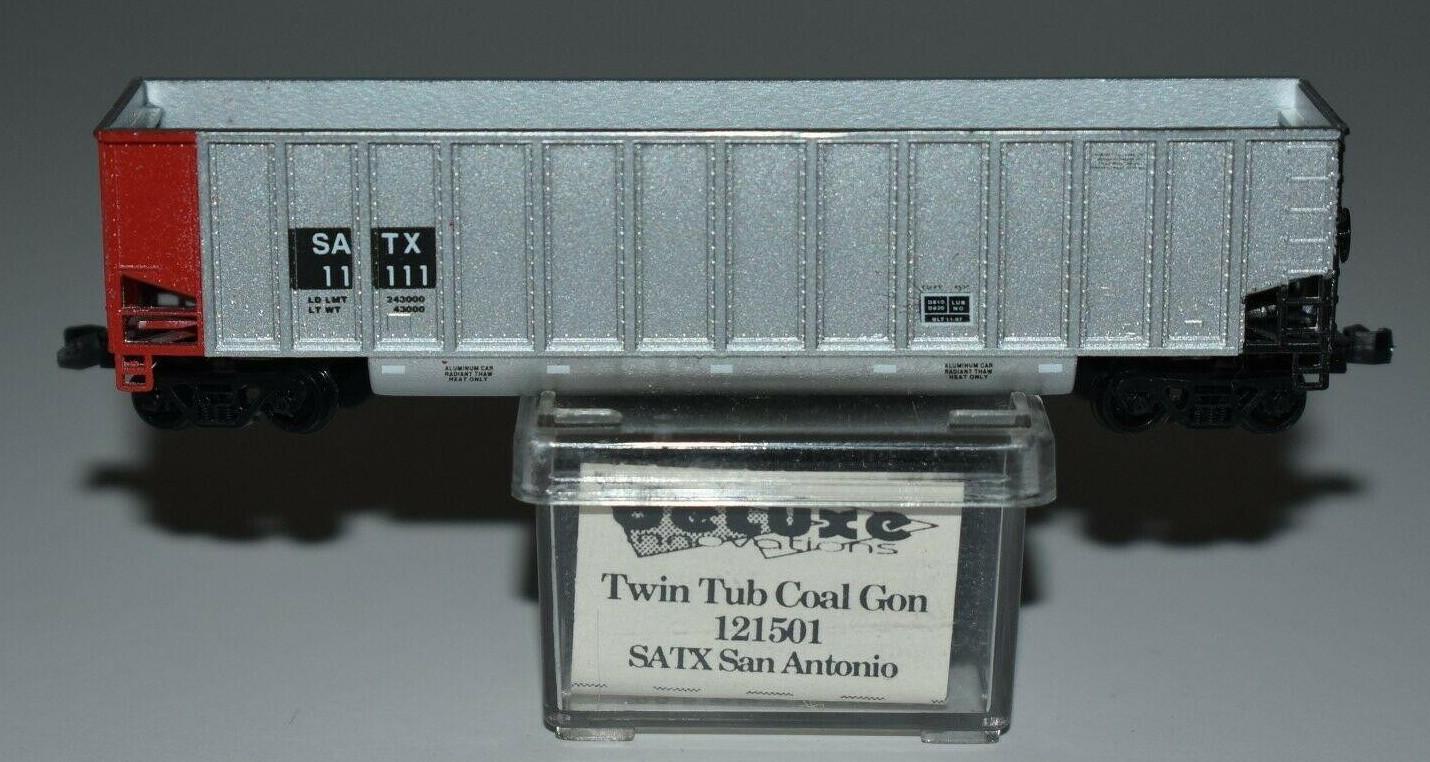 N Scale - Deluxe Innovations - 121501 - Gondola, Bathtub, Johnstown Twin Tub - City Public Service Board of San Antonio - 11111