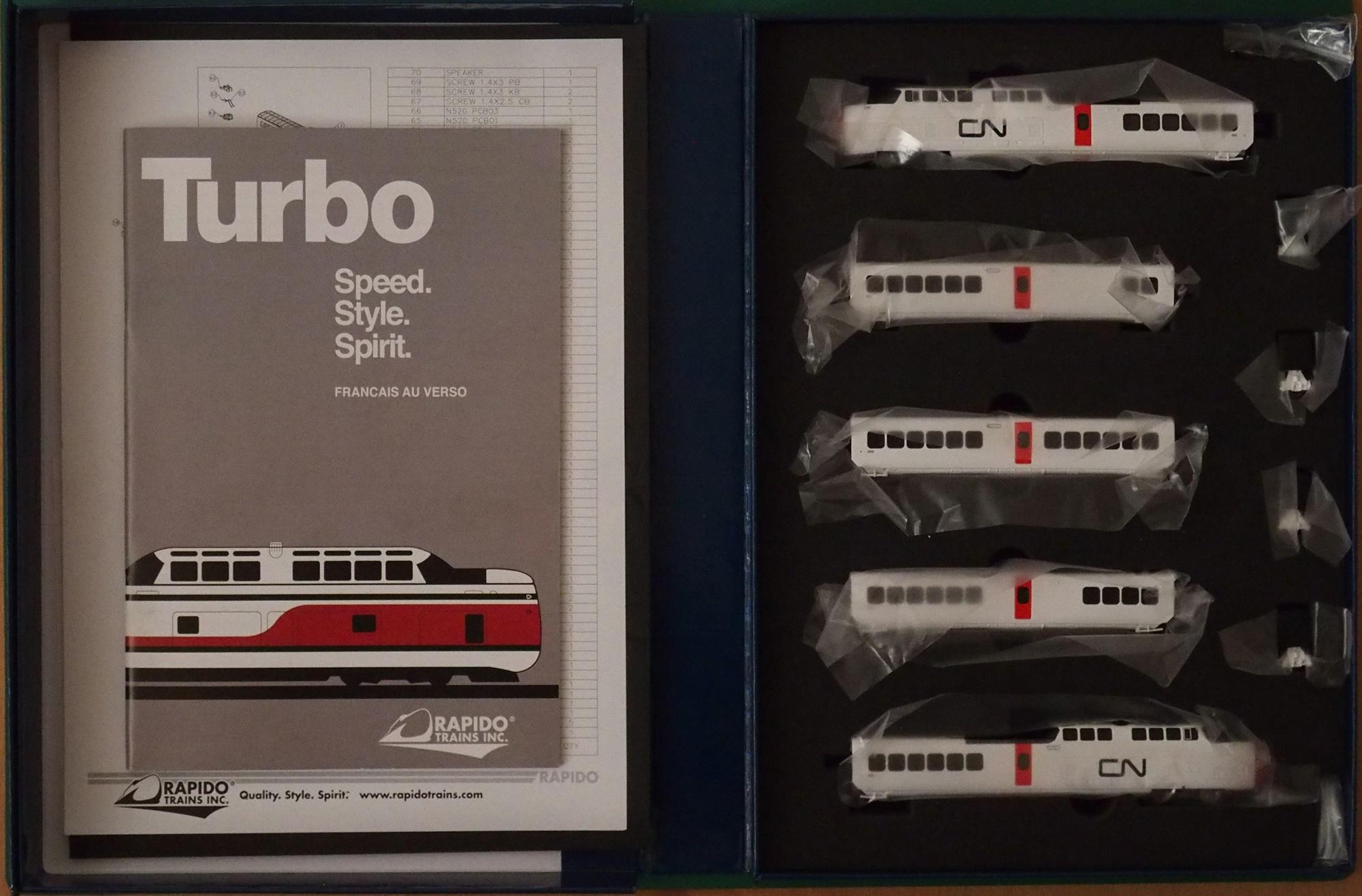 N Scale - Rapido Trains - 520505 - Passenger Train, TurboTrain - Canadian National - 125 / 150