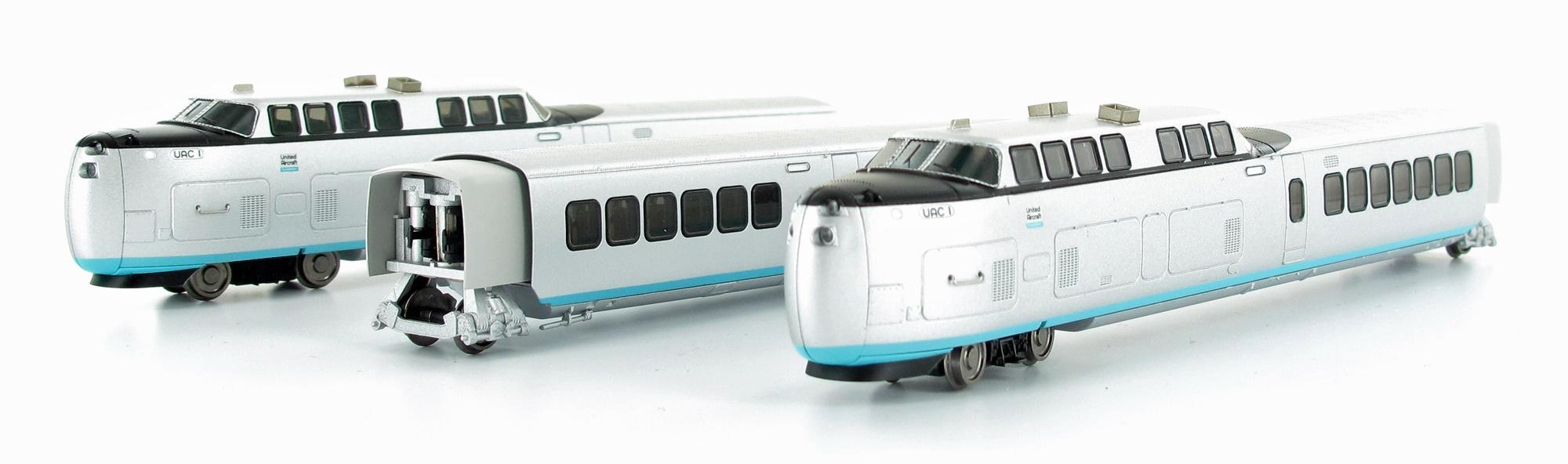 N Scale - Rapido Trains - 520501 - Passenger Train, TurboTrain - United Aircraft