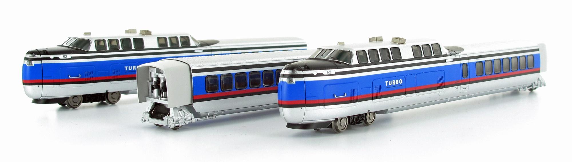 N Scale - Rapido Trains - 520502 - Passenger Train, TurboTrain - Penn Central