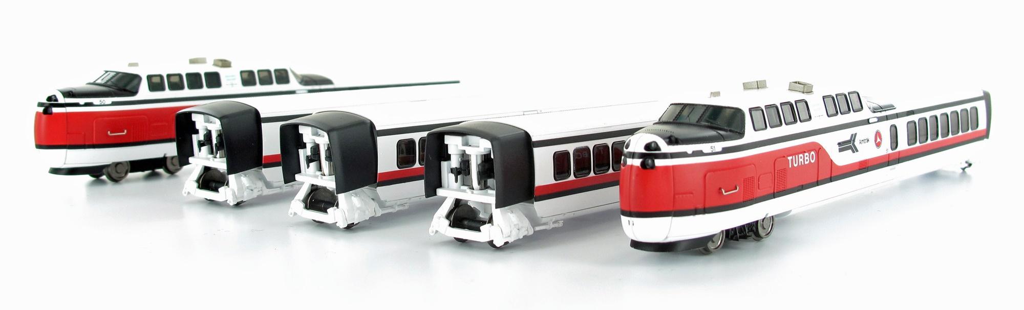N Scale - Rapido Trains - 520503 - Passenger Train, TurboTrain - Amtrak