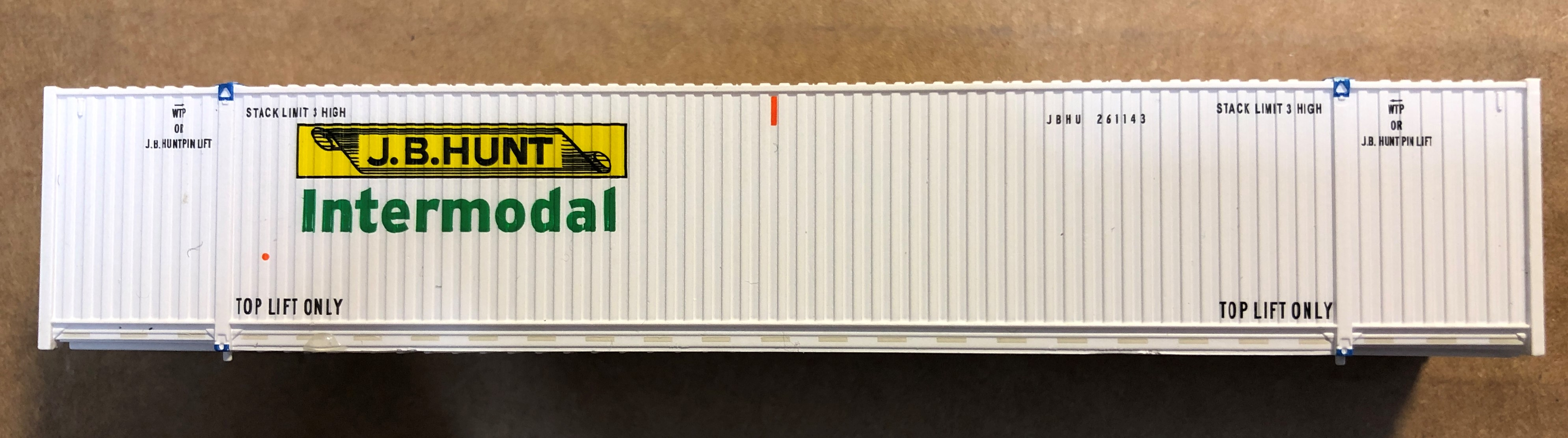 N Scale - ScaleTrains.com - 10663 - Container, 53 Foot, Corrugated - J.B. Hunt - 245779