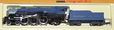 N Scale - Arnold - 0228B - Locomotive, Steam, 4-6-2, Pacific - Baltimore & Ohio - 5312