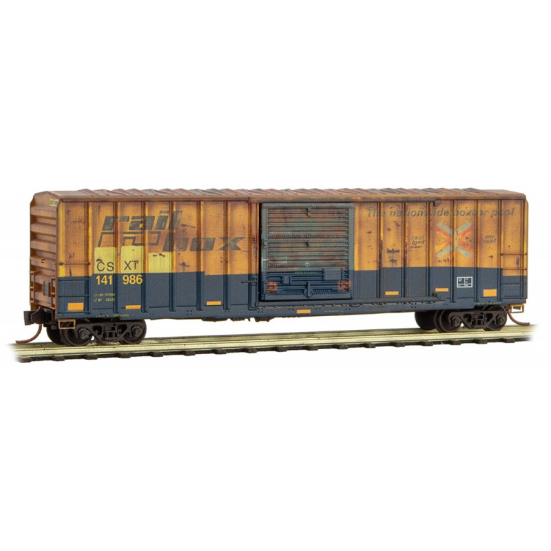 N Scale - Micro-Trains - 025 44 126 - Boxcar, 50 Foot, FMC, 5077 - CSX Transportation - 141986