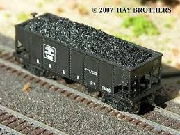 N Scale - Hay Bros - 2802 14 - Load - Painted/Unlettered - Lump Coal