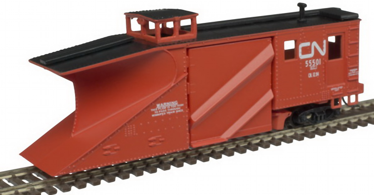 N Scale - Atlas - 50 004 532 - Maintenance of Way, Snow Plow, Russell - Canadian National - 55501