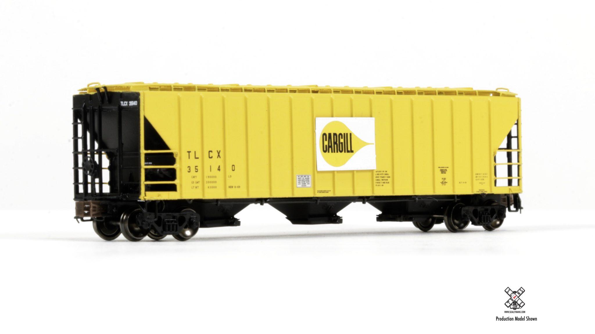 N Scale - ScaleTrains.com - SXT31047 - Covered Hopper, 3-Bay, PS-2 - Cargill - 35142