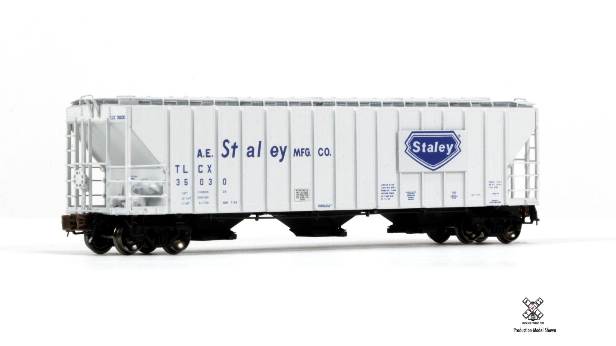 N Scale - ScaleTrains.com - SXT31051 - Covered Hopper, 3-Bay, PS-2 - A.E. Staley - 35114