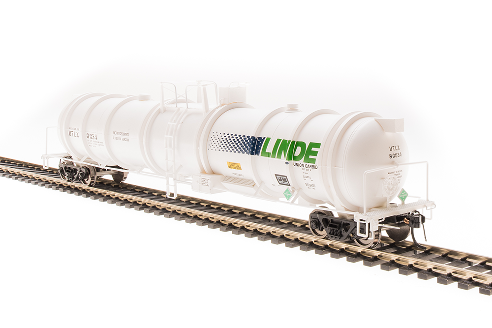 N Scale - Broadway Limited - 3724 - Tank Car, Cryogenic - Linde Air Products - 2-pack
