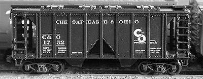 N Scale - Deluxe Innovations - 7110-3 - Covered Hopper, 2-Bay, ACF 36 Foot - Chesapeake & Ohio - 3 numbers