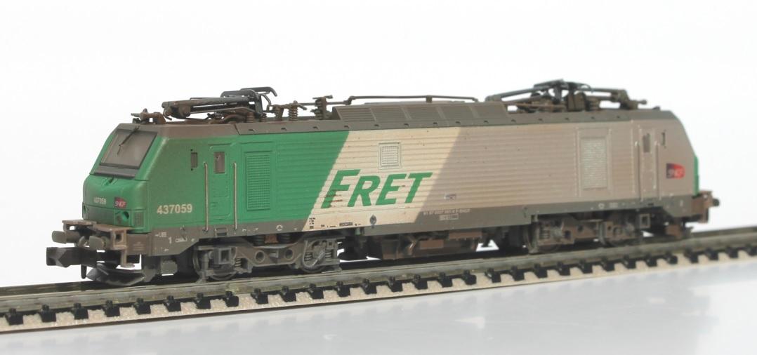 N Scale - Rocky-Rail - RR437059 - Locomotive, Electric, Alstom Prima - SNCF - 437059