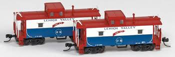 N Scale - N Scale Enthusiast - NSE MTL 17-03 - Caboose, 8 Window Cupola - Lehigh Valley - 1776 & 1976