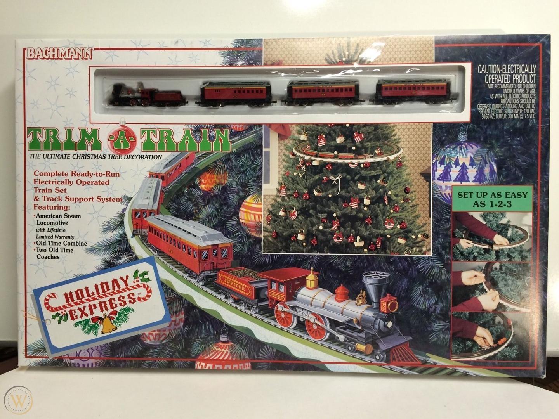N Scale - Bachmann - 24903 - Passenger Train, Steam, North American, Old Time - Merry Christmas - Trim-a-Train