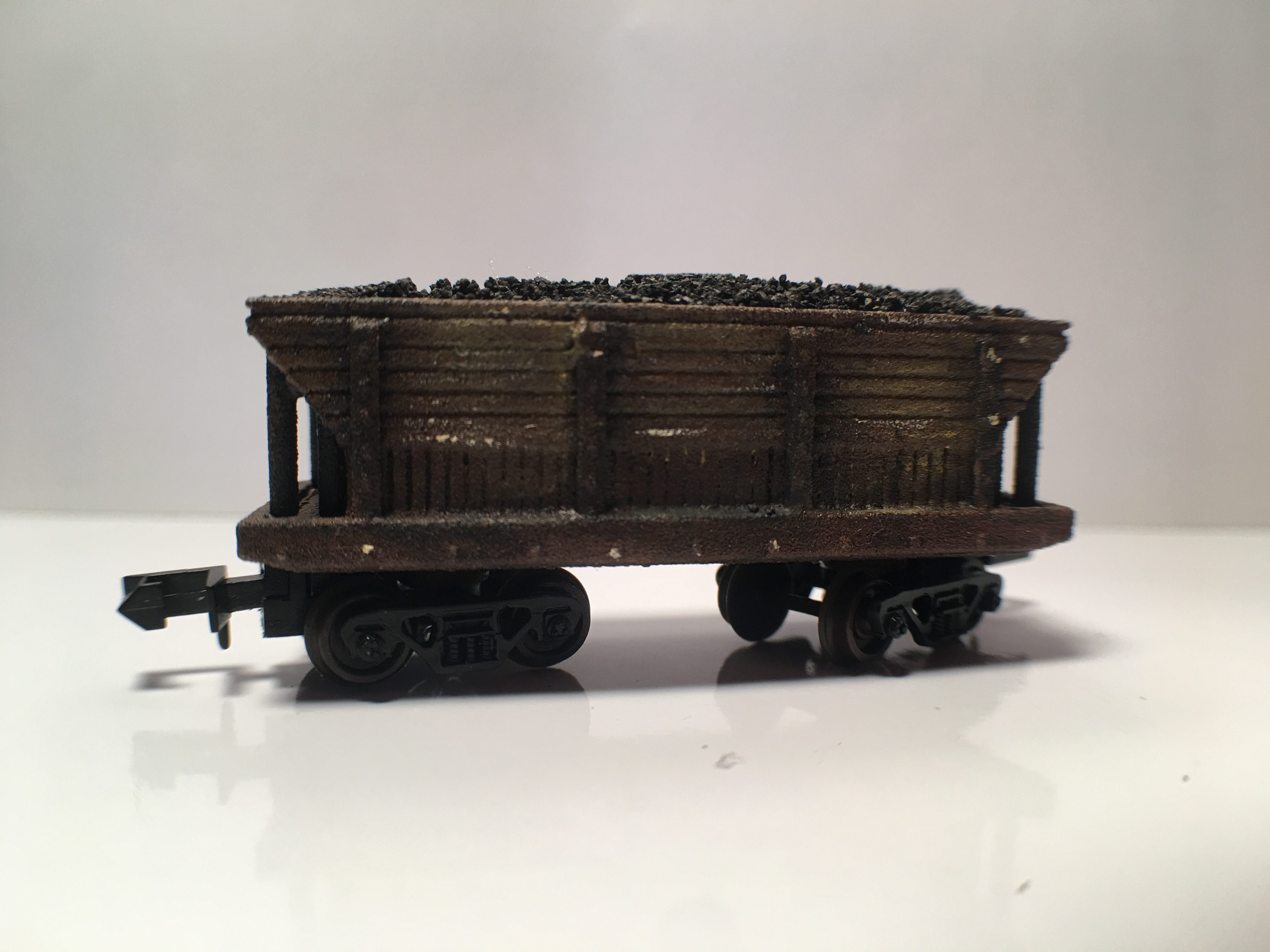 N Scale - B&T Model - Coal Car - Open Hopper, 2-Bay, Composite - Painted/Unlettered