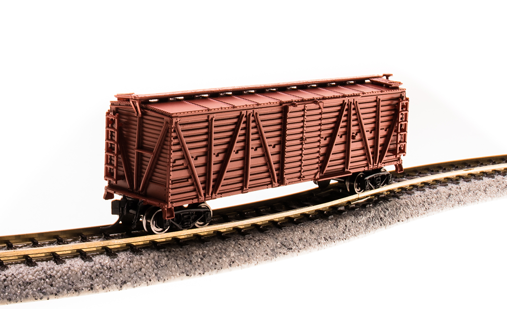 N Scale - Broadway Limited - 3579 - Stock Car, 40 Foot, Steel - Painted/Lettered