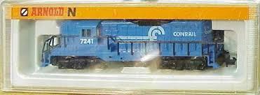 N Scale - Arnold - 5046 - Locomotive, Diesel, EMD GP9 - Conrail - 7241