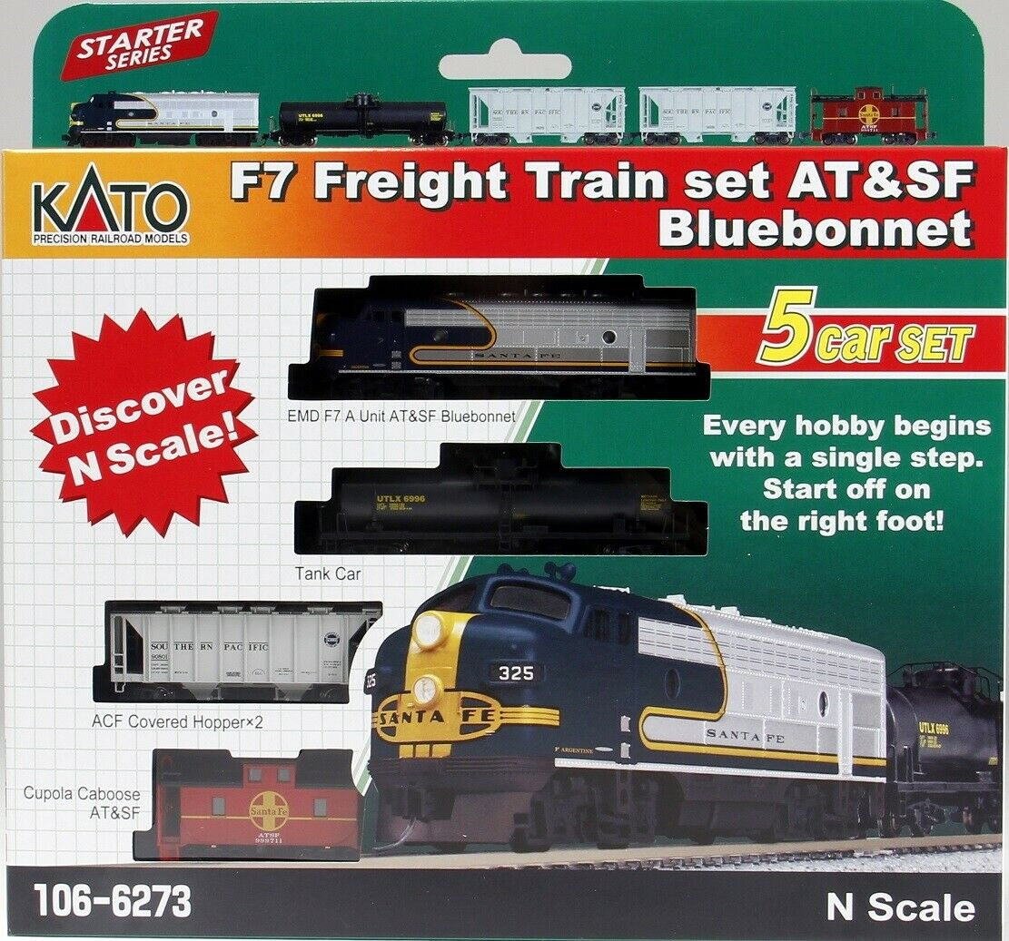 N Scale - Kato USA - 106-6273 - Freight Train, Diesel, North American, Transition Era - Santa Fe - Train Set