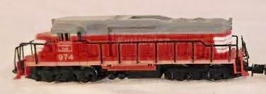 N Scale - Arnold - 2305 - Locomotive, Diesel, EMD GP30 - Burlington Route - 974