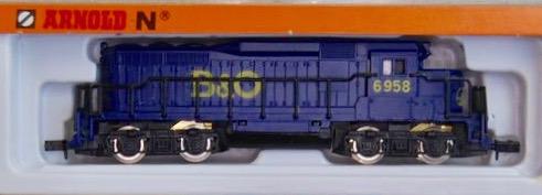N Scale - Arnold - 5051 - Locomotive, Diesel, EMD GP30 - Baltimore & Ohio - 6958