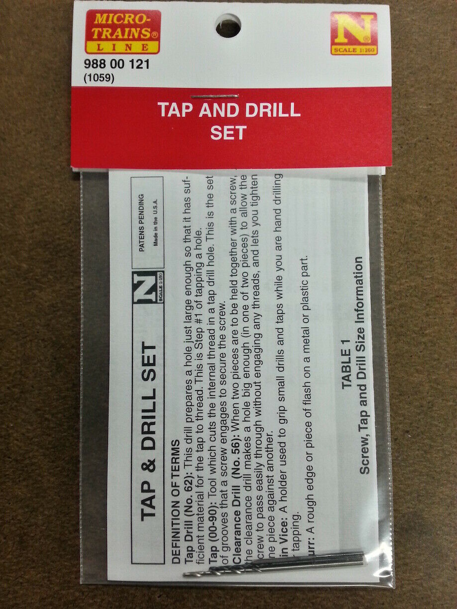 N Scale - Micro-Trains - 988 00 121 - Undecorated - Tap & Drill Kit