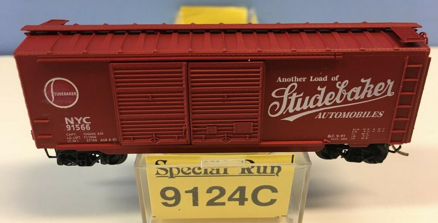 N Scale - Ak-Sar-Ben - 9124C - Boxcar, 40 Foot, PS-1 - New York Central - 91566