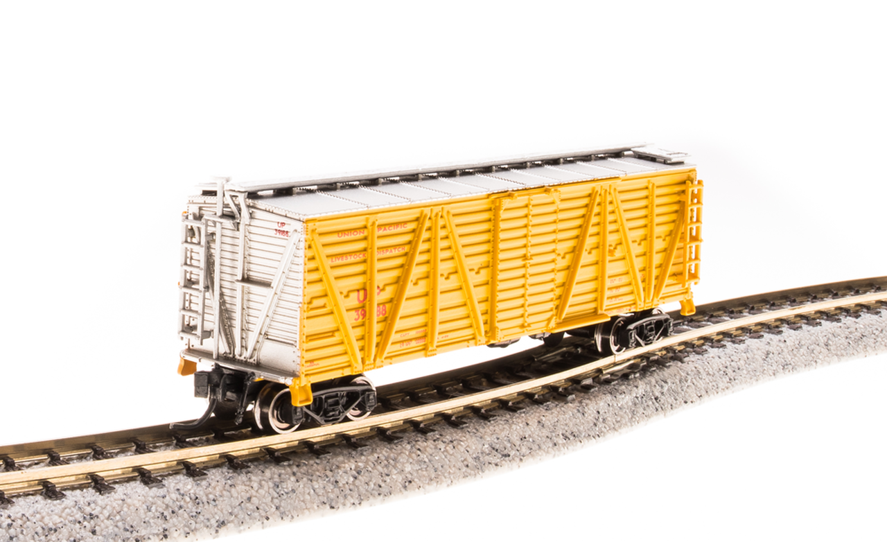 N Scale - Broadway Limited - 3577 - Stock Car, 40 Foot, Steel - Union Pacific - 39190
