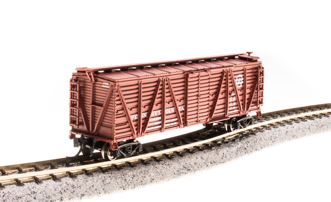 N Scale - Broadway Limited - 3576 - Stock Car, 40 Foot, Steel - Pennsylvania - 134746