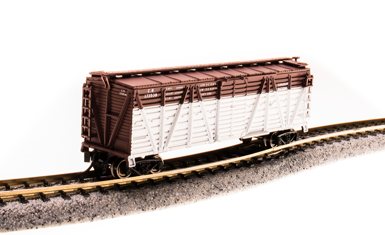 N Scale - Broadway Limited - 3573 - Stock Car, 40 Foot, Steel - Canadian National - 173560