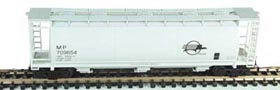 N Scale - Bowser - 37291 - Covered Hopper, 3-Bay, Cylindrical - Missouri Pacific - 709657