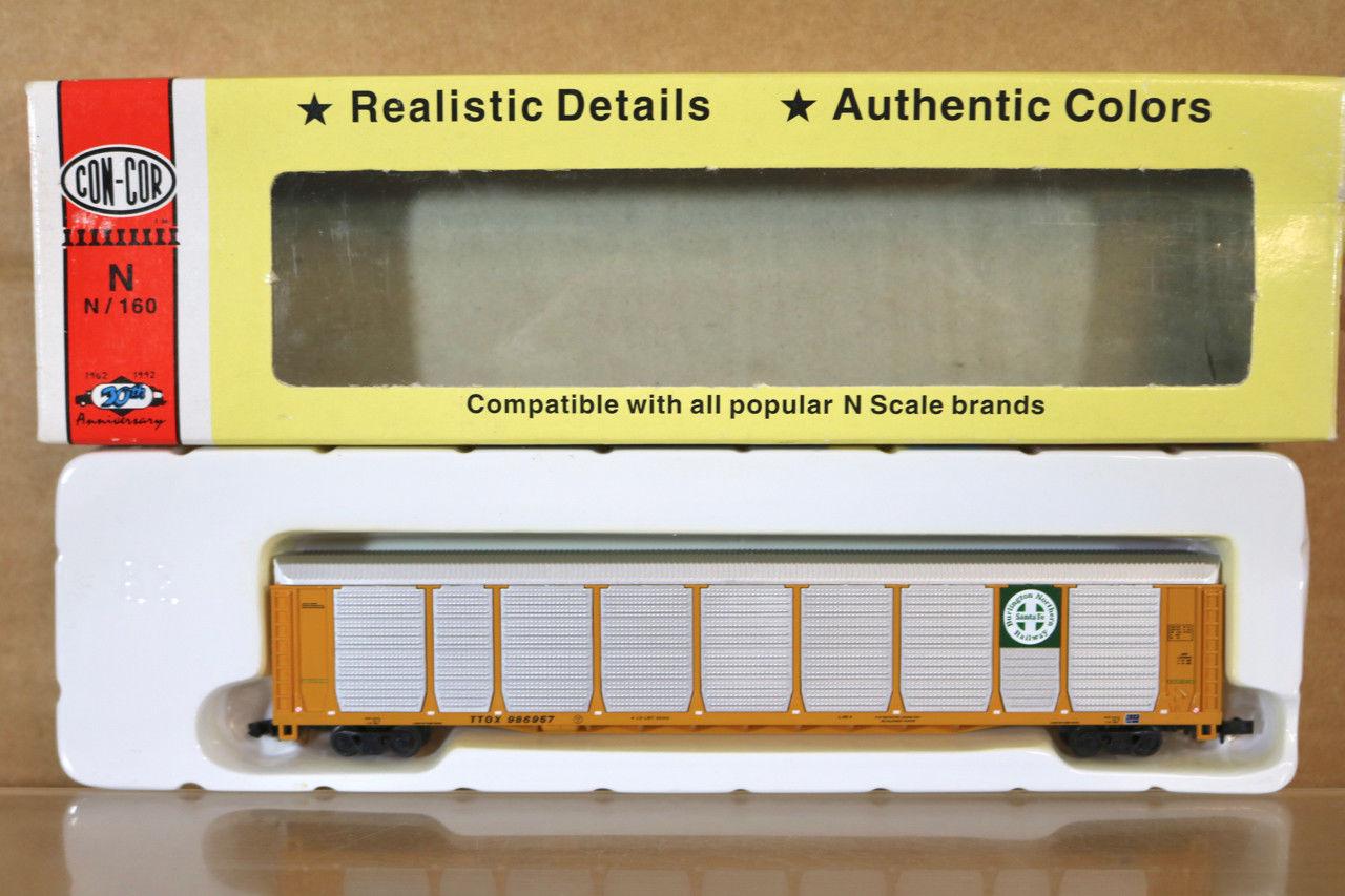 N Scale - Con-Cor - 0001-603024-x - Autorack, Enclosed, Bi-Level - Burlington Northern Santa Fe - 986950