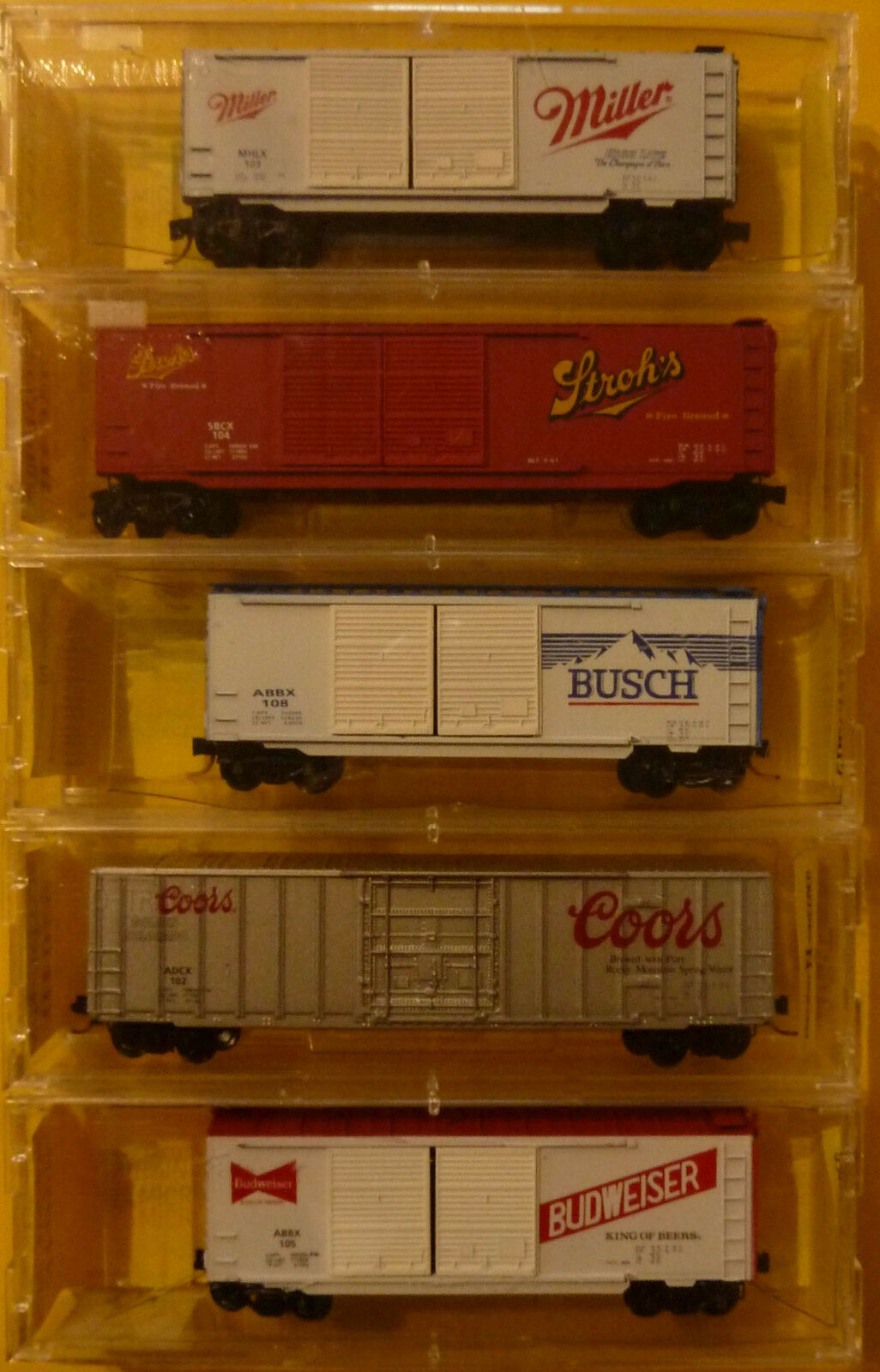 N Scale - Ak-Sar-Ben - 9304 - Mixed Freight Consist, North America, Transition Era - Various - 5-Pack