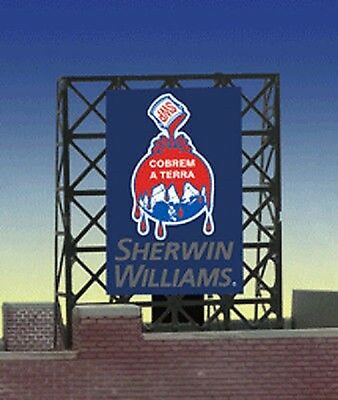 N Scale - Miller Engineering - 33-8935 - Structure, Billboard - Painted/Unlettered - Sherwin Williams