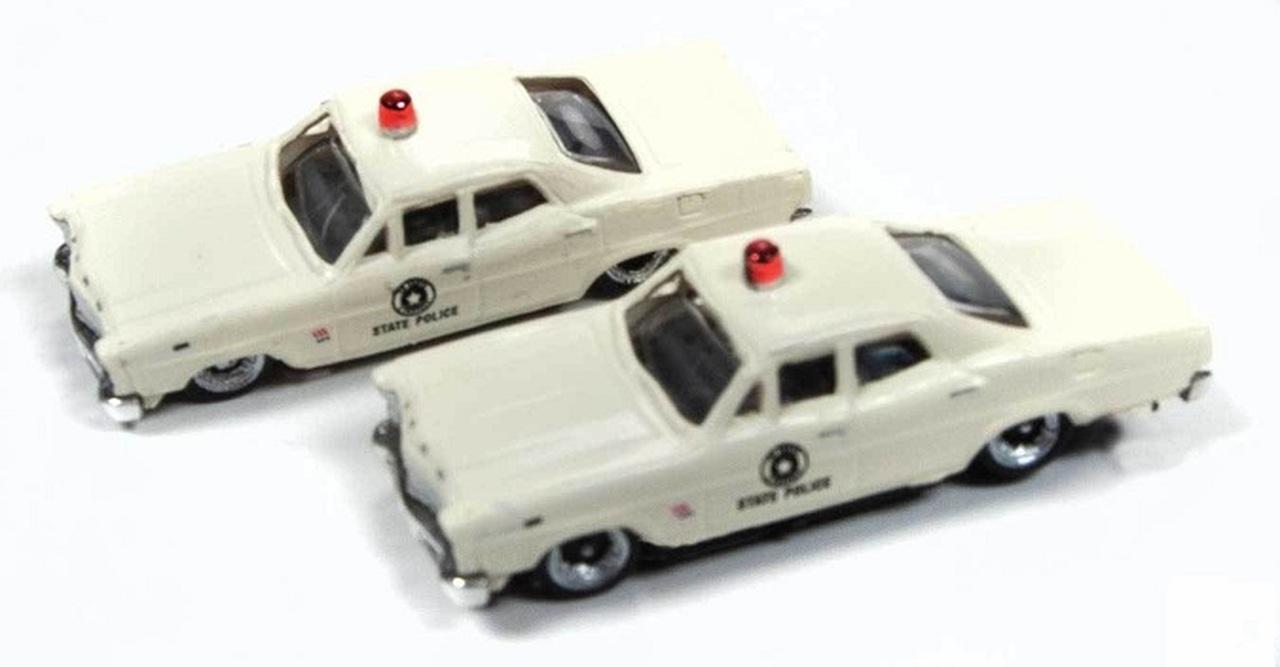 N Scale - Classic Metal Works - 50379 - Automobile, Ford, Custom - Police Dept - 1967 Ford Custom 500, 4-door