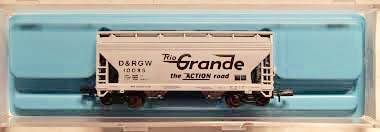 N Scale - Atlas - 3915 - Covered Hopper, 2-Bay, ACF Centerflow - Rio Grande - 10085