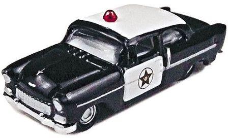 N Scale - Classic Metal Works - 50228 - Automobile, Chevrolet, Bel Air - Police Dept - 1955 Chevrolet Bel Air 200