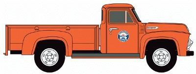 N Scale - Classic Metal Works - 50305 - Truck, Ford F-Series - Southern Pacific - 1954 Ford F-350 pickup